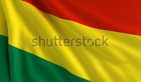 Zászló Bolívia szél textúra háttér zöld Stock fotó © cla78