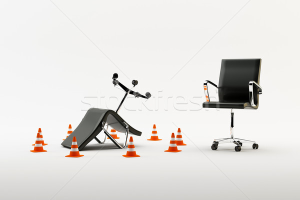 Stock photo: Chairs isolated on a white background