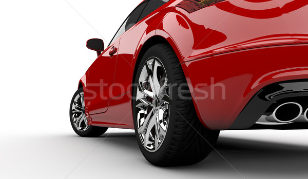 Stock photo: Red car