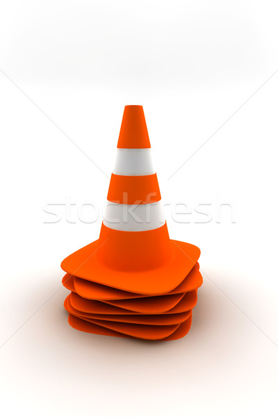 Traffic cones Stock photo © cla78
