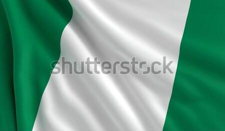 Bandeira Nigéria vento textura fundo branco Foto stock © cla78