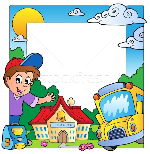 School theme frame 1 Stock photo © clairev