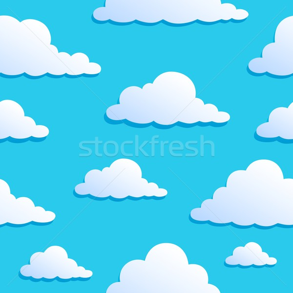 Seamless background with clouds 8 Stock photo © clairev