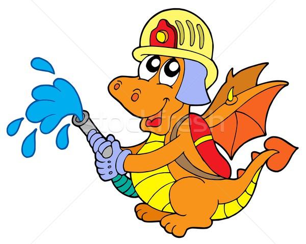 пожарный дракон белый воды огня Gear Сток-фото © clairev