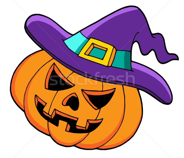 Halloween pumpkin in hat Stock photo © clairev