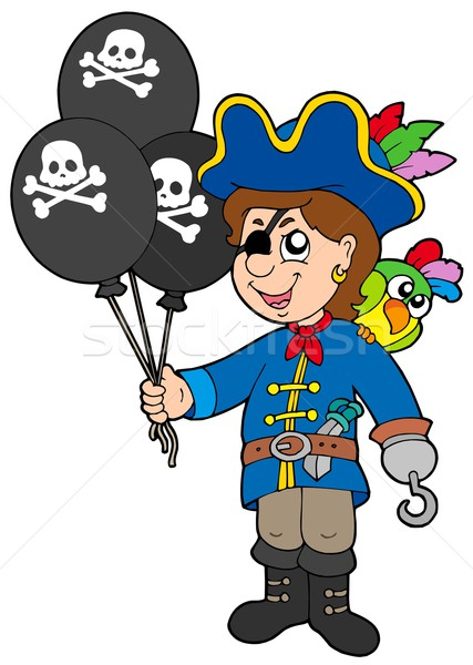 Pirate boy with balloons Stock photo © clairev