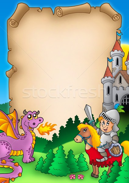 Fairy tale parchment 1 Stock photo © clairev