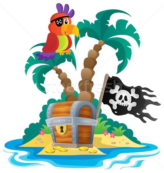 Small pirate island theme 1 Stock photo © clairev
