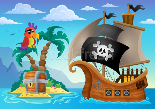 Small pirate island theme 2 Stock photo © clairev