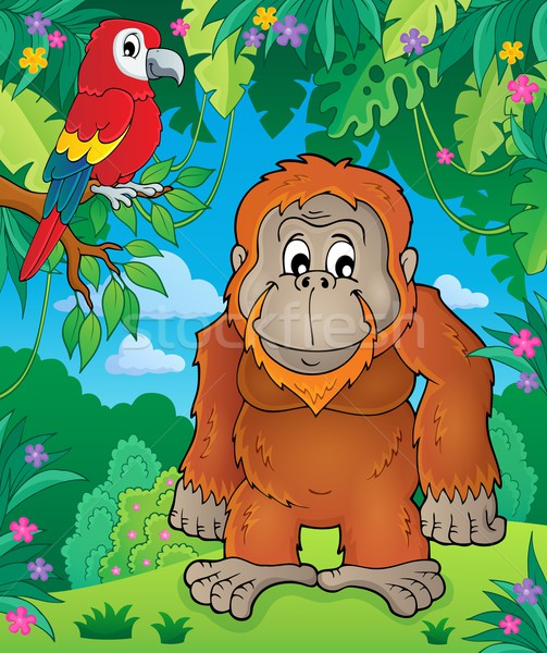 Orangutan theme image 2 Stock photo © clairev