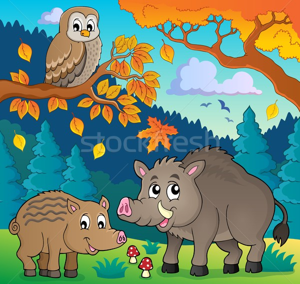 Forest wildlife theme image 5 Stock photo © clairev