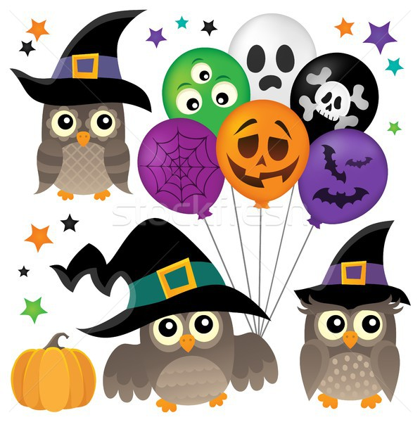 Halloween owls thematic collection 1 Stock photo © clairev