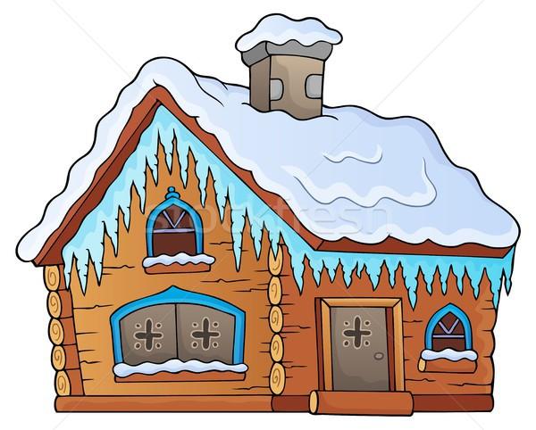 зима коттедж изображение дома домой архитектура Сток-фото © clairev