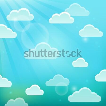 Nubi cielo natura nube ambiente Meteo Foto d'archivio © clairev