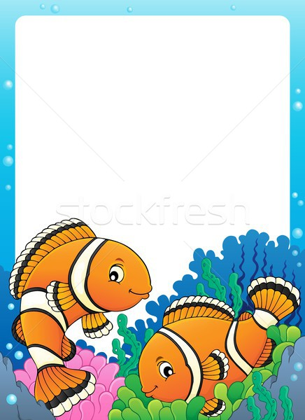 Clownfish topic frame 1 Stock photo © clairev