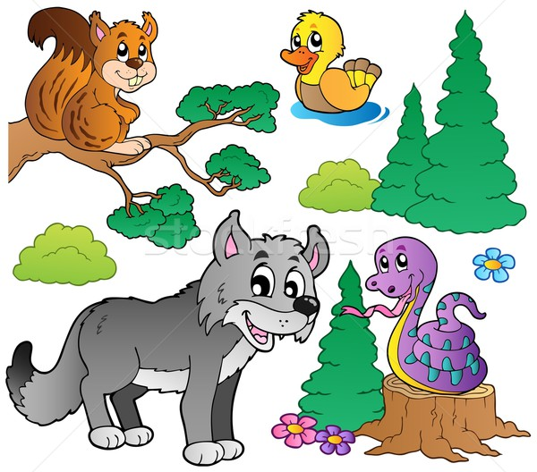 Forest cartoon animals set 2 Stock photo © clairev