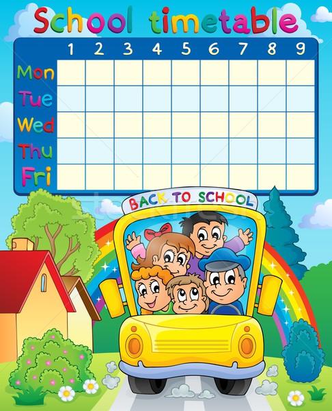 School dienstregeling onderwerp afbeelding kinderen student Stockfoto © clairev