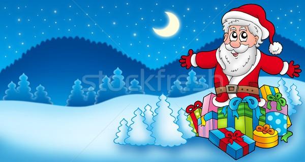 ストックフォト: 風景 · サンタクロース · 色 · 実例 · 笑顔 · デザイン