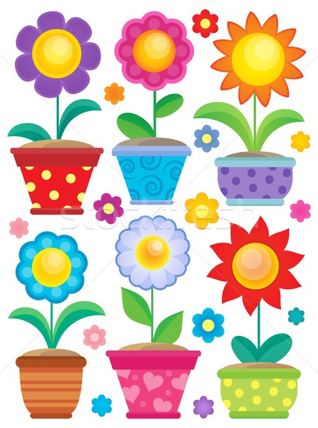 Flower theme collection 2 Stock photo © clairev