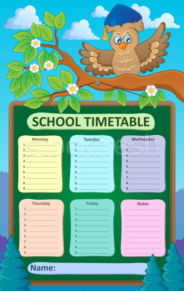 Weekly school timetable topic 1 Stock photo © clairev