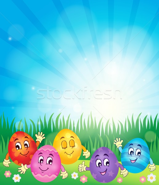 Happy Easter eggs theme image 1 Stock photo © clairev