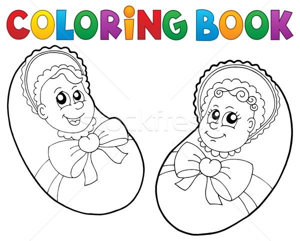 Boyama Kitabı Bebek Görüntü Gülümseme çocuklar Kitap