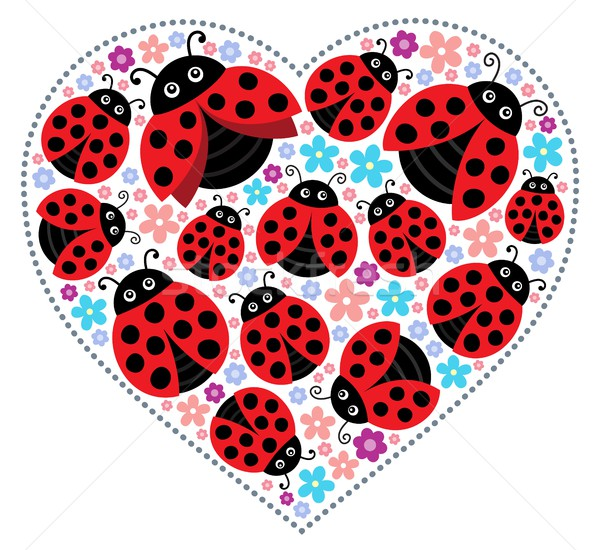 Valentine ladybugs theme image 1 Stock photo © clairev