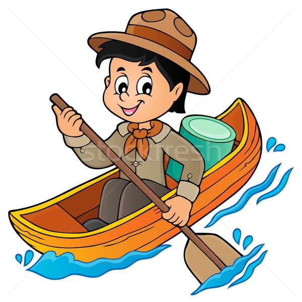 Water scout boy theme image 1 Stock photo © clairev