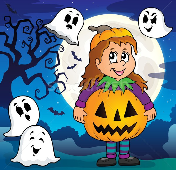 Girl in Halloween costume theme image 3 Stock photo © clairev