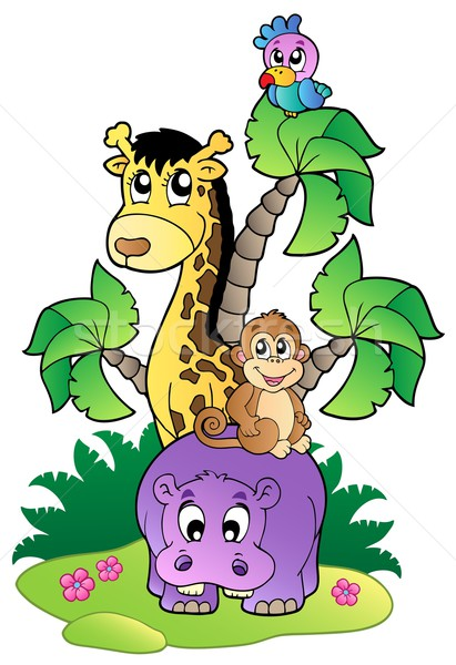 Various cute African animals 2 Stock photo © clairev