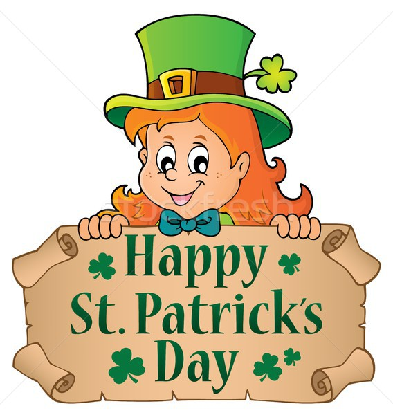 Happy St Patricks Day topic 1 Stock photo © clairev