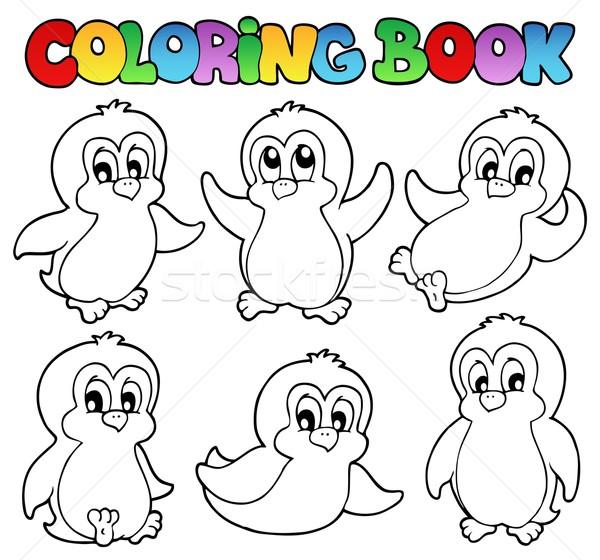 Boyama Kitabi Sevimli Kitap Mutlu Kus Cizim Vektor