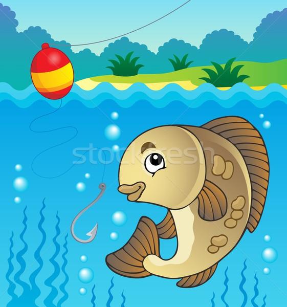 De agua dulce peces imagen agua naturaleza arte Foto stock © clairev