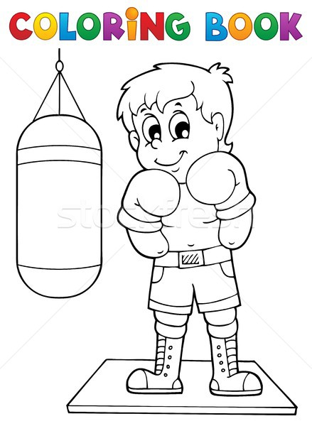 Coloring book sport and gym theme 1 Stock photo © clairev