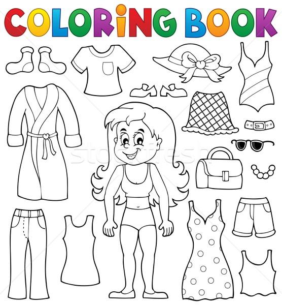 Carte De Colorat Fată Haine Zâmbet Carte Copil