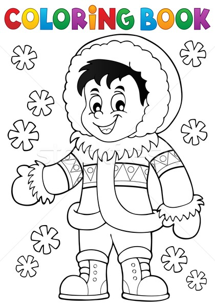 Coloring book Inuit thematics 1 Stock photo © clairev