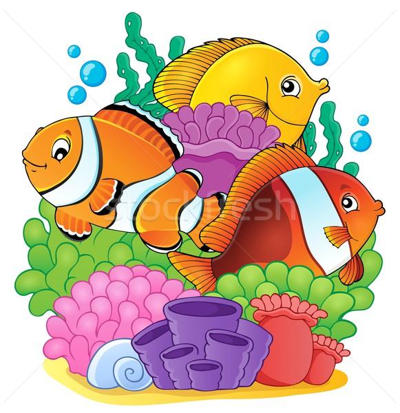 Korallzátony hal kép természet művészet óceán Stock fotó © clairev