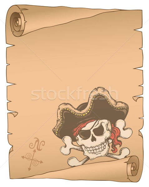 Parchment with pirate thematics 2 Stock photo © clairev