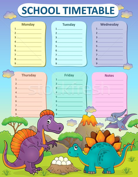 Weekly school timetable thematics 2 Stock photo © clairev