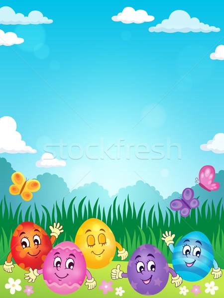 Happy Easter eggs theme image 2 Stock photo © clairev