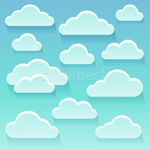 Stylized clouds theme image 6 Stock photo © clairev