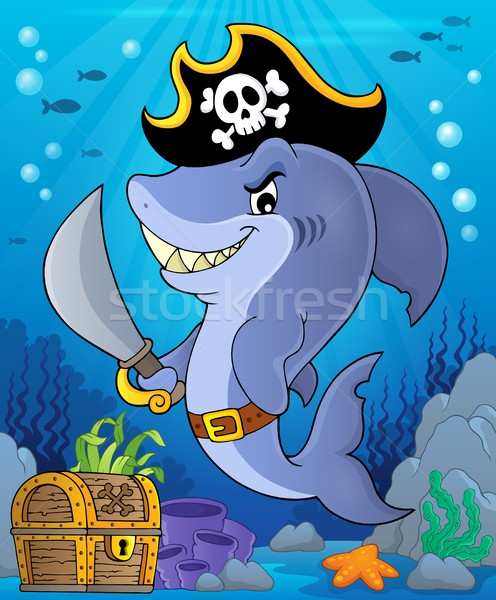Pirate shark topic image 2 Stock photo © clairev