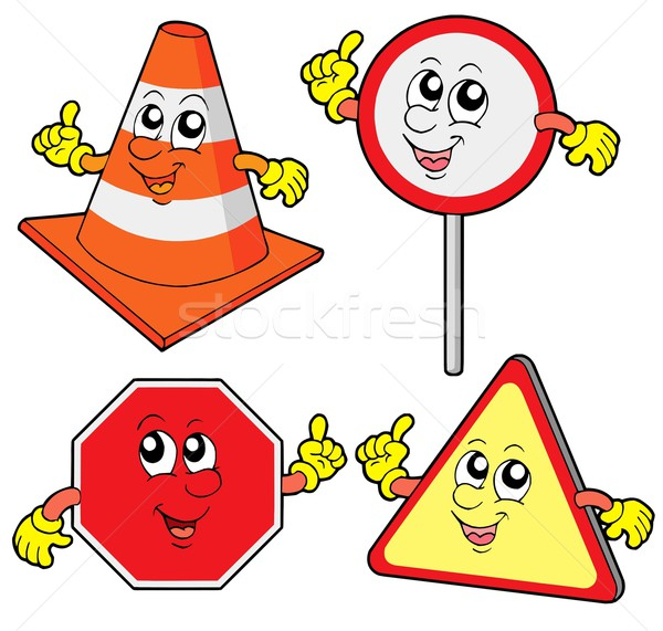 Cute road signs collection Stock photo © clairev