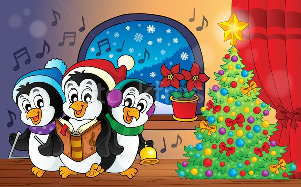 Christmas penguins theme image 3 Stock photo © clairev