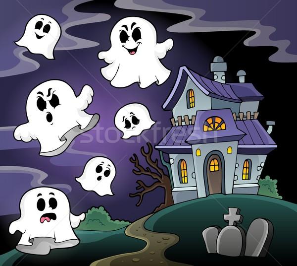 Haunted house theme image 4 Stock photo © clairev
