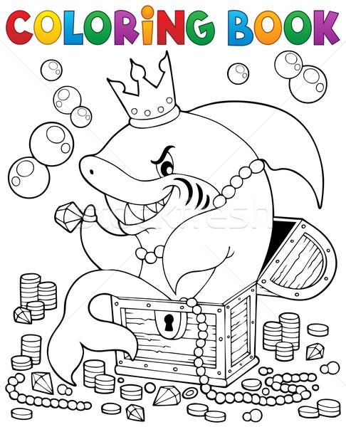 Boyama Kitabı Köpekbalığı Hazine Kitap Boya Sanat