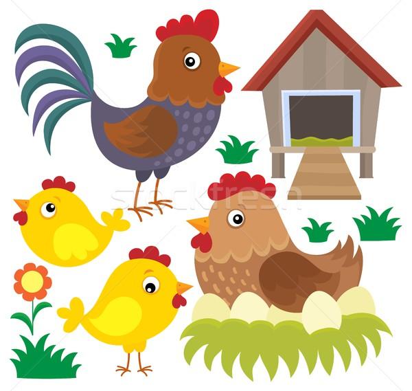 Chicken thematic set 2 Stock photo © clairev