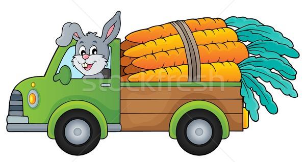 Camion carote immagine auto farm coniglio Foto d'archivio © clairev