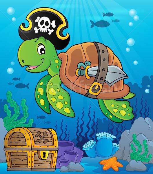 Pirate turtle theme image 2 Stock photo © clairev