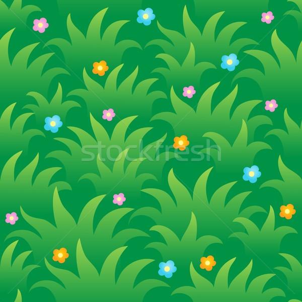 Herbeux feuille art laisse modèle Photo stock © clairev